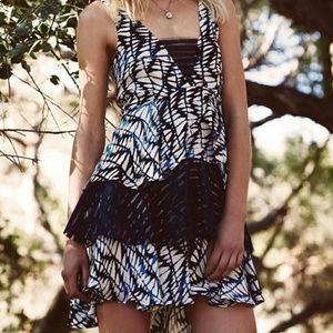'Fern' Shibori Print Layered Dress